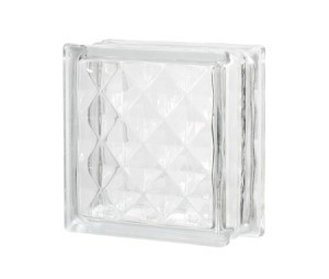 Glass Block on white background.
