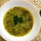 Turnip and Cilantro Soup in bowl