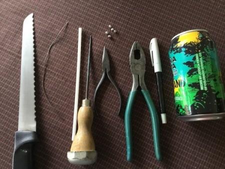 Aluminum Can Pinwheel - supplies