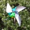 Aluminum Can Pinwheel - pinwheel in the garden