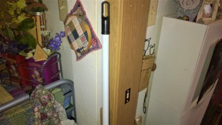 A short broom handle.
