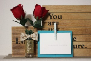 Clothespin and Wood Picture Frame