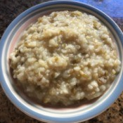 Mung Bean Porridge in bowl