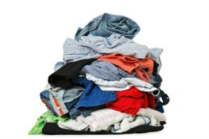 Pile of washed clothes