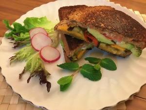 Veggie Melt Sandwich ready to eat