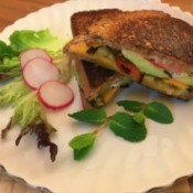 Veggie Melt Sandwich ready to eat