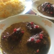 Walnut and Pomegranate Chicken Stew (Fesenjoon)