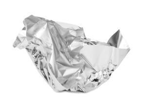 Crumpled piece of Aluminum Foil.