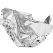 Crumpled piece of Aluminum Foil.