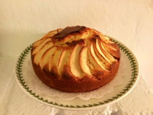 Apple Crown Cake on plate