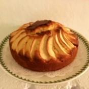 Apple Crown Cake on plate
