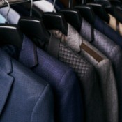 Mens suits on a rack