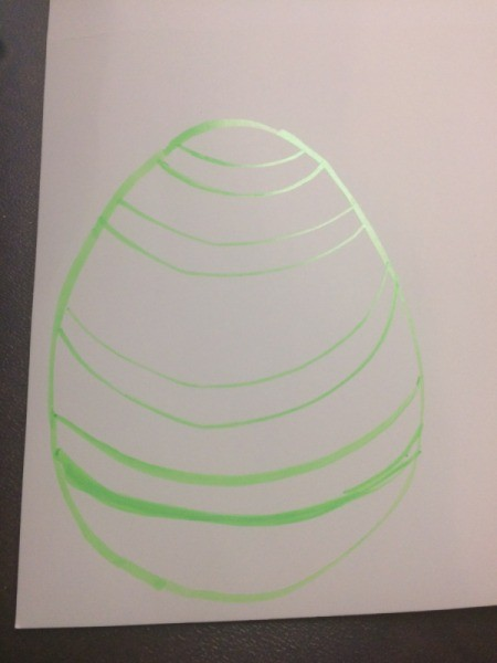 Easter Egg Sun Catcher - create a design if desired