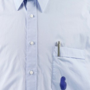 Pen stain on shirt pocket