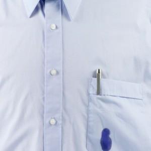 Pen stain on shirt pocket