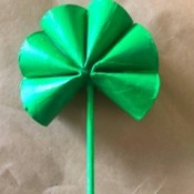 Cardboard Tube Shamrock - allow to dry