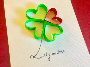 Lucky in Love Card - closeup of card front