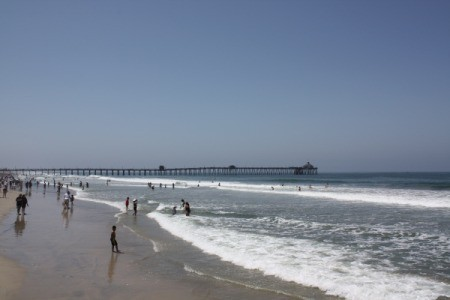 The water and beach at Imperial Beach, CA