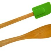 Two spatulas on a white background.