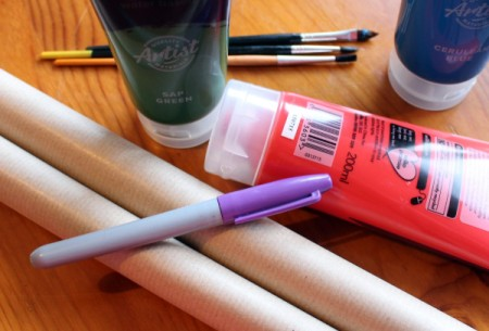 Make Your Own Wrapping Paper - supplies