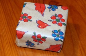 Make your Own Wrapping Paper - paper wrapped box
