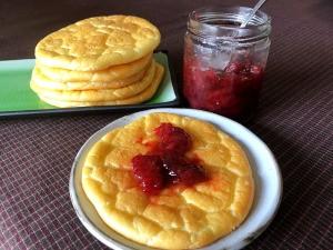 Jam on Cloud Bread on plate