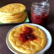 Jam on Cloud Bread on plate
