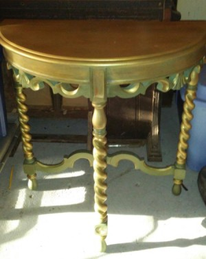 Value of a Mersman Half Moon Table  - gold half moon table