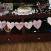 Having a Big Girls Slumber Party - hearts party banner