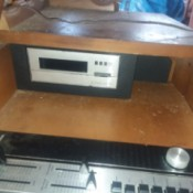 Value of Combination Record/8 Track Console - components in cabinet