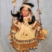 Value of a Sabre Collection Porcelain Doll - Native American doll