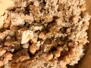 Quinoa Fennel Tofu Salad in bowl