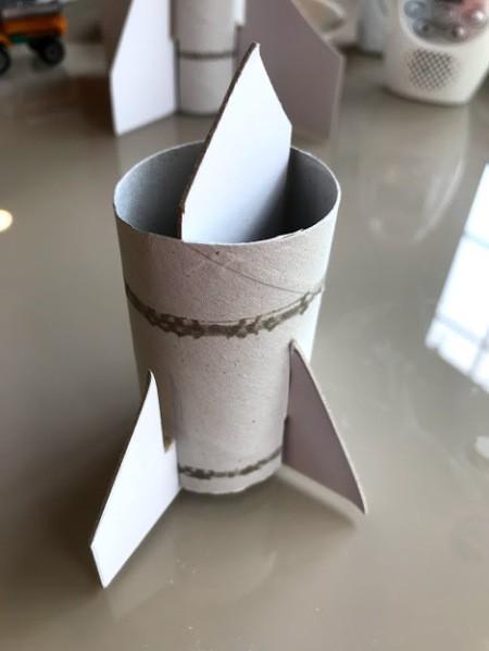 Paper Towel Roll Rocket Craft for Kids