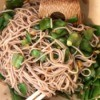 Snow Peas With Soba noodles