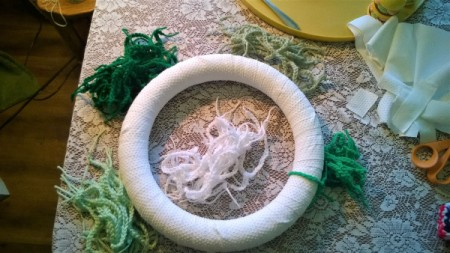 Yarn Chain St. Patty's Wreath