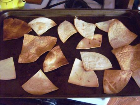 cut tortilla triangles