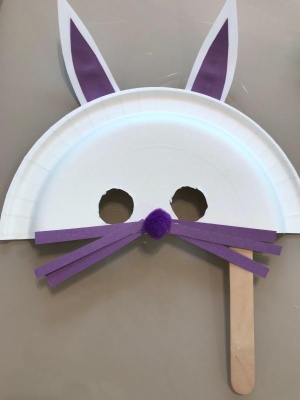 Paper Plate Bunny Mask & Paper Plate Bunny Mask | ThriftyFun