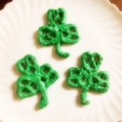3 Shamrock Pretzels on plate