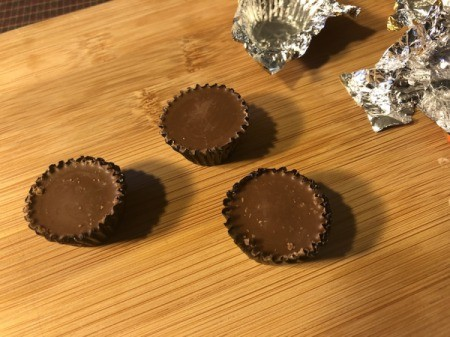unwrapped peanut butter cup