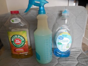 DIY Kitchen Cleaner Spray - supplies