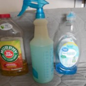 DIY Kitchen Cleaner Spray - supplies