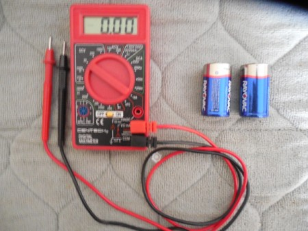 A multimeter to test batteries.