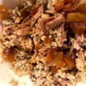 Slow Cooker Pulled Pork with quinoa