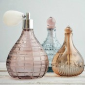 Old glass perfume bottles