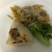 Mushroom Chicken Bakeon dinner plate