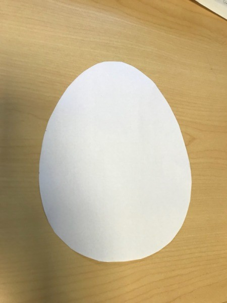 Woven Egg Paper Mat - draw and cut out egg shape