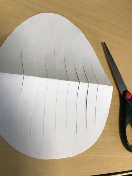 Woven Egg Paper Mat - fold in half and cut slits leaving space at top and bottom