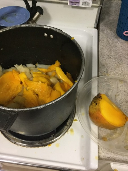 cooking mangos and apples