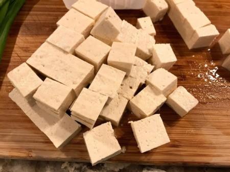 cut tofu