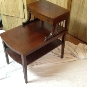 Value of Vintage Mersman Table - stepped table